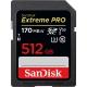 512GB SDXC Card Sandisk Extreme Pro 170/90 V30 UHS-I U3 SDSDXXY-512G-GN4IN