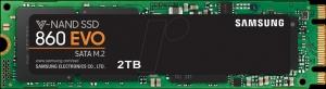 Samsung2TB SSD Samsung 860 EVO series SATA/M.2 (MZ-N6E2T0BW)