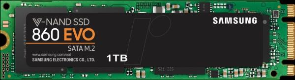 1TB SSD Samsung 860 EVO series SATA/M.2 (MZ-N6E1T0BW)