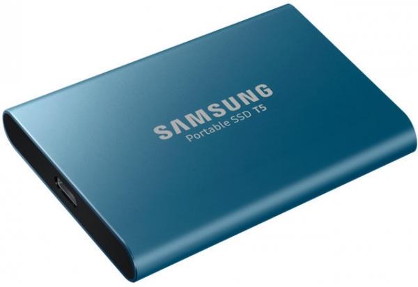 500GB SSD Samsung Portable T5 USB3.1 Gen2 Type-C blue MU-PA500B/EU