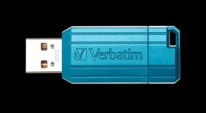 Verbatim49057, 32GB USB DRIVE 2.0 PINSTRIPE STORE N GO CARIBBEAN BLUE