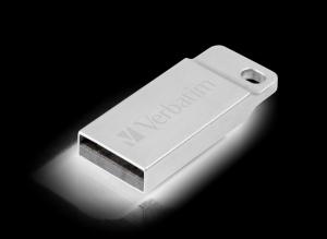 Verbatim98749, 32GB USB DRIVE 2.0 METAL EXECUTIVE SILVER
