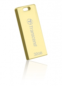 TranscendTS32GJFT3G, 32GB, USB2.0, Pen Drive, Gold