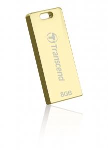 TranscendTS8GJFT3G, 8GB, USB2.0, Pen Drive, Gold