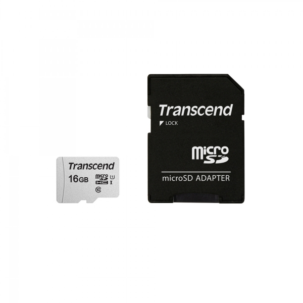TS16GUSD300S-A, 16GB UHS-I U1 microSD with adapter