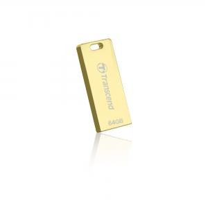 TranscendTS64GJFT3G, 64GB, USB2.0, Pen Drive, Gold