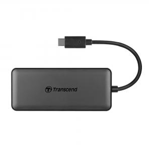 TranscendTS-HUB5C, 3-Port Hub, 1-Port PD, SD/MicroSD Reader, USB 3.1 Gen 2, Type C