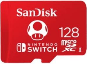 Sandisk128GB MicroSDXC Sandisk for Nintendo Switch R100/W90 SDSQXAO-128G-GNCZN
