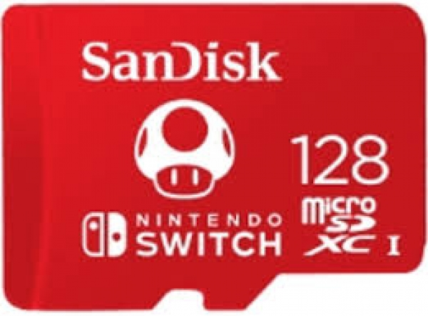 128GB MicroSDXC Sandisk for Nintendo Switch R100/W90 SDSQXAO-128G-GNCZN
