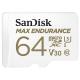 64GB MicroSDXC Sandisk Max Endurance R100/W40 SDSQQVR-064G-GN6IA