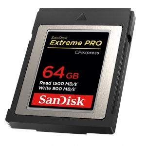 Sandisk64 GB CF Express Extreme Pro 1500MB/s read W800MB/s write SDCFE-064G-GN4NN