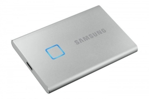 Samsung500GB SSD Samsung Portable T7 Touch USB3.1 silver MU-PC500S/WW