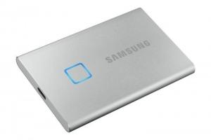 Samsung1TB SSD Samsung Portable T7 Touch USB3.1 silver MU-PC1T0S/WW