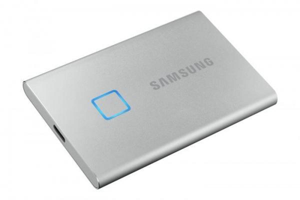 1TB SSD Samsung Portable T7 Touch USB3.1 silver MU-PC1T0S/WW